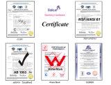 Le robinet en laiton de bassin d'accessoires de salle de bains de double traitement a délivré un certificat