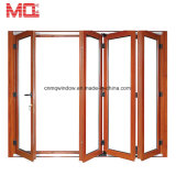 Porte de empilement en verre d'interruption de balcon de pliage des prix en aluminium thermiques de portes