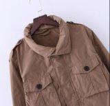 두건 덧붙인 주머니 우연한 Outcoat 잠바 방풍 재킷을%s 가진 Mens 형식 재킷