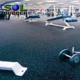 stuoia di gomma della pavimentazione dell'anti di slittamento di 3mm di forma fisica rullo di ginnastica
