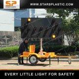 Parpadeo del LED de energía solar placas Flecha Cartel para la Seguridad Vial