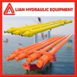 La potencia hidráulica del cilindro de émbolo hidráulico con vástago de acero forjado