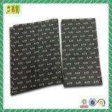 Papel de tejido de embalaje negro impreso insignia