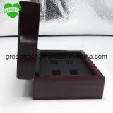 Твердые полые деревянные ящики 4 отверстия кольца установите уплотнительные кольца прозрачную крышку и чемпионата деревянные ящики