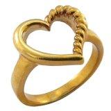 18k金の記念品のリングと結婚しているインドの女性