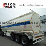 L'acier en alliage aluminium 45000 litres 3 compartiments semi-remorque de réservoir de carburant