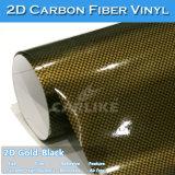 2D de liberación de aire de PVC película de vinilo de fibra de carbono para coche
