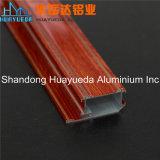 Profil en bois d'aluminium de guichet de glissement d'enduit de poudre de couleur