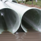 Tubo superficial liso de alta presión de la diapositiva de la salida del agua de la fibra de vidrio