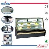 Showcase de vidro do refrigerador do congelador do indicador do bolo do arco luxuoso de 1.2m1.8m2.0m