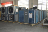 Save70%力Cop4.23 60deg c 19kw、35kw、70kwの105kwホテル中央水暖房装置のための商業使用の空気ソースヒートポンプ