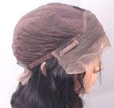 Das mulheres retas de seda de seda brasileiras humanas do laço do cheiro nao ruim peruca cheia do laço