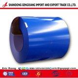 Couleur bleu acier galvanisé prélaqué ondulé recouvert de tôle de toit