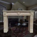 Novo design interior em mármore utilizadas Mantel Surround com Lareira