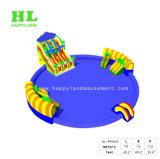 Парк воды гигантской игрушки раздувной с плавательным бассеином и скольжением