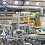Schoonmakende Machine van de Ontploffing van de Sectie van de h- Straal de Staal Ontsproten met de Transportband van de Rol