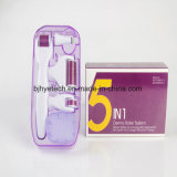 Home Use Derma Roller 5 em 1 Micro agulha para o rejuvenescimento da pele Anti-Aging Derma Roller