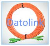 Дуплекс 2m LSZH 2.0mm шнура заплаты E2000/APC- E2000/APC Sm