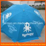 Напечатанный изготовленный на заказ парасоль пляжа логоса для напольный рекламировать