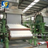 El equipo de la máquina de fabricación de papel liner de producción de papel higiénico
