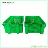 50kgs Agricultura transporte de vegetais para mover a pilha de plástico Nest crate