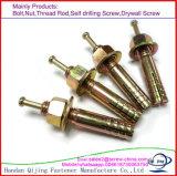 Metallhit-Anker/Schlag-Anker-/Hammer-Laufwerk-Anker mit der spinnenden Unterlegscheibe-Mutter, verzinkt