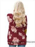 꽃 인쇄를 가진 주문 긴 소매 여자의 t-셔츠