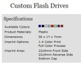 Изготовленный на заказ привод вспышки USB пластмассы с логосом OEM (ALP-002U)