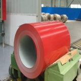 la feuille de enracinement PPGI de matériau de construction de 0.14-0.8mm a enduit la bobine d'une première couche de peinture en acier galvanisée