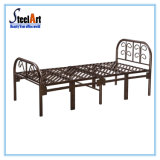 Dormitorio nuevo diseño de metal una sola cama plegable