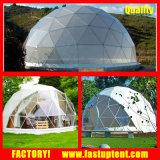 Tente transparente de dôme géodésique de bâti en acier