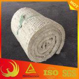 Manta de lana de roca mineral aislante con malla de alambre