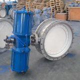 Kohlenstoffstahl A216 Wcb 40 Zoll-pneumatisches Wasser-Ein-Ausdrosselventil, elektrische Wasser-Ventile
