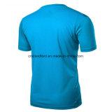 メンズはカスタム印刷を用いる適当な網のスポーツのTシャツを乾燥する