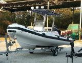 Barco inflable rígido que se zambulle de la patrulla de /Rescue de la costilla 10persons de Aqualand 18feet los 5.4m (RIB535A)