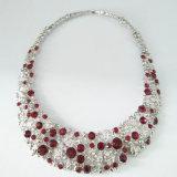 Collana di cristallo del Choker dell'argento del Rhinestone delle donne del diamante all'ingrosso