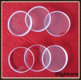 Transparente fundido densamente em volta da placa de vidro de quartzo do silicone