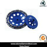 Deux rangs diamant segments coupe roue pour broyer béton