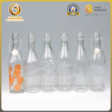 garrafa de água superior do balanço 500ml redondo de vidro melhor (707)
