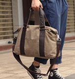 Lienzo de cuero auténtico Moda Mujer Bolso Bolso de mano de viajes