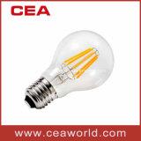 De Uitstekende Gloeilamp van de LEIDENE LEIDENE van de Lamp A60 6With4W Bol van de Gloeidraad