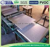 azulejo del techo del yeso del PVC de 595X595X7m m