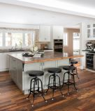 Gabinete de cozinha de madeira do estilo do abanador para a venda
