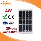 Panneau solaire monocristallin direct de la vente 4W d'usine pour l'énergie solaire
