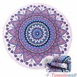 Полотенце пляжа Microfiber Mandala круглое с Tassels