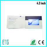 Libro promozionale dell'affissione a cristalli liquidi da 4.3 pollici video per la vendita calda