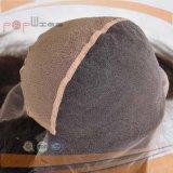 Doble ondulado natural lleno de nudos de encaje frontal peluca (PPG-L-01542)