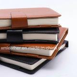 Cadernos da tampa do couro do diário do negócio