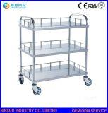 Carro/carretilla médicos de múltiples funciones de la aplicación de las Dos-Capas del acero inoxidable de los muebles del hospital