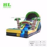 緑色のジャングル子供のための膨脹可能な水スライド